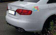 DIFFUSORE POSTERIORE Audi A4 B8 8K 2007-2011 SOTTO PARAURTI LOOK RS4 S4 SLINE