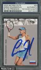New listing Anna Kournikova Signed 2003 Netpro Elite Tennis #E4 RC Rookie PSA PSA/DNA AUTO