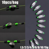 Weights Line Sinkers Fishing Lead fall Sinker Hook Connector Olive Shaped