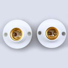 2PCS E14 Socket Plastic Lamp Holder Base Light Bulb Adapter Converter White