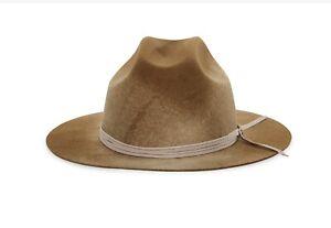 Goorin Bros X Grenadier Tan Texas Hold Em Western Cattleman Crown Hat Fedora M