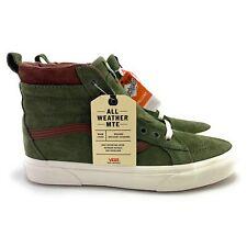 VANS Men's Sk-8 Hi MTE Deep Lichen Green Root Skate Shoes VN0A4BV740 Size 9.5
