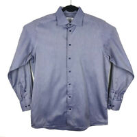 ETON Contemporary Fit Mens Dress Shirt Blue Long Sleeve Button Up Large 41 16