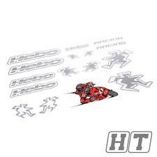 Aufkleberset HEBO RACING 2, Argento, 500x350mm per scooter 50 RENAULT ride AE