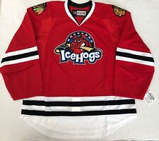 New Authentic Pro Stock CCM Rockford IceHogs AHL Hockey Player Jersey 56 7287 sr
