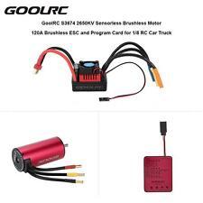 GoolRC S3674 2650KV Sensorless Motor 120A Brushless ESC and Program Card M8V2