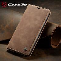 CaseMe Iphone 11 Pro Max Premium Vintage Leather Wallet Case - Magnetic Closure