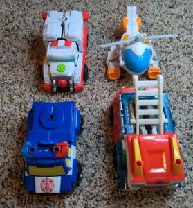 Transformers Playskool Heroes Rescue Bots 4pc Lot Chase Heatwave Medix Blades