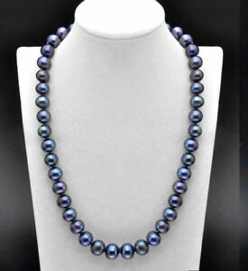 25 inch AAA 8-9 MM SOUTH SEA Tahitian black PEARL NECKLACE 142