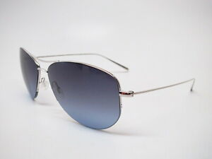 Oliver Peoples OV 1004S Strummer-T S Silver w/Blue/Grey Gradient Sunglasses