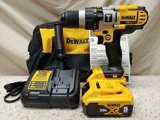 """DeWALT·DCD985M2·20vMAX 1/2"""" 3-Speed Hammerdrill/Driver Kit·2-5.0Ah Batteries·New"""