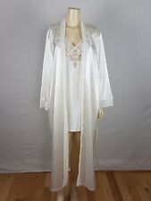 LUCIANO DANTE Lace Ivory Robe with Gown Size Medium