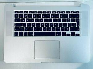 """Apple Macbook Pro 15"""" A1398 Palmrest Keyboard Late 2012 Early 2013 UK Keyboard"""