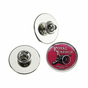 ROYAL ENFIELD MOTORBIKE RED LOGO METAL PIN BADGE WITH 25mm logo