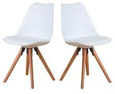 Set de dos silla del comedor NELLE COCINA roble blanco