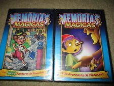Memorias Magicas Las Adventuras de Pinocchio DVD 2002, Lot of 2