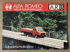 Undated Alfa Romeo AR8 Light Industrial Vehicles original Italian sales brochure