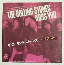"The Rolling Stones Miss You single 7"" Japon 1978"