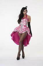 Ladies Betsy Bon Bon Burlesque Fancy Dress Pink Showgirl Party Costume UK 10-12