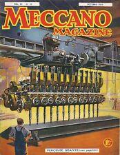 MECCANO MAGAZINE, EDITION FRANÇAISE, N°10 AVRIL 1934, BEL ETAT