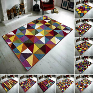 Extra Large Luxury New Modern Hand Carved Multicolor Rug Living Room Bedroom Mat