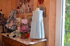 robe tartine et chocolat 4 ans doublee 20% laine bleu ceinture etat parfait