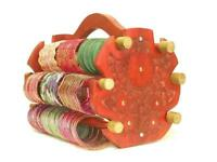 Handmade Wooden Bangle Display Indian Jewelry Glass Bracelet Holder Rack Stand