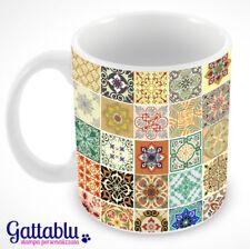 Tazza full printed azulejos multicolor, mattonelle portoghesi e spagnole