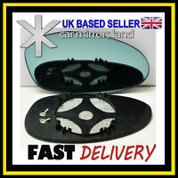 Right Driver Side Wing Mirror Glass ELECTRIC HEATED  BLUE CONVEX BMW 1 04-09