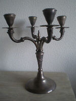 GRAND BOUGEOIR CHANDELIER ART TABLE DECO CORTASA ALPACA CANDELABRE ORFEVRERIE