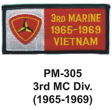 "3""  3RD MC DIV.(1965-1969) Embroidered Military Patch"