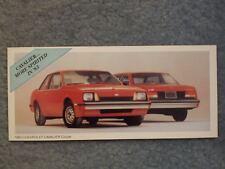 1983 CHEVROLET CAVALIER COUPE MINI BROCHURE CARD CAVALIER… MORE SPIRITED IN '83