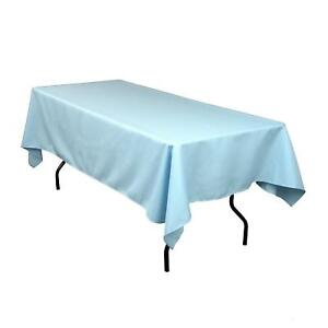 """5 Lot 60""""×126"""" Seamless Rectangle Polyester Tablecloths High Quality Made in USA"""