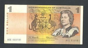 AUSTRALIA  1 Dollar ND1966  VF XF   P37a   Portrait of Queen Elizabeth II