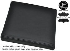 BLACK STITCH CONSOLE CUBBY BOX LID LEATHER COVER FITS RANGE ROVER P38 1994-2002