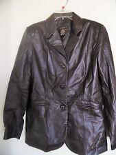 CROFT & BARROW~100% Women's Lamb Skin Leather Jacket, Size Medium Career/Evening