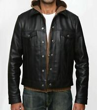Trucker Leather Jacket  Jean Style Western Classic Fit