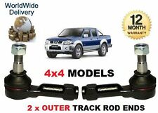 FOR NISSAN NP300 & PICKUP D22 & NAVARA 4x4 1998-> 2 x OUTER TRACK ROD END SET