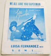 Partition sheet music LUISA FERNANDEZ : We All Love You Superman * 70's
