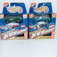 1996 Hot Wheels Motorized X-V RACERS Quaker State #14 & Turquoise S-10 GM Truck