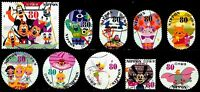 JAPAN 2013 DISNEY CHARACTERS, 80 YEN COMPLETE SET OF 10 STAMPS FINE USED