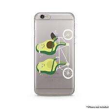 Avocados in bicycle iPhone Case, iPhone 6 plus case Transparent iPhone Case