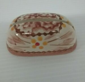 """Temptations Ceramic Brown Place Card Holder 3"""" Replacement piece"""