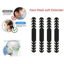 Set of 4 Ear Saver Adjustable Soft Face Mask Extender Support Safe Hook Straps