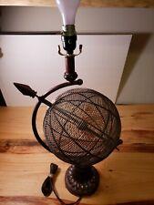 "Metal Middle Century Light  Lamp Globe Table Decor  25"" TALL  NO SHADE"