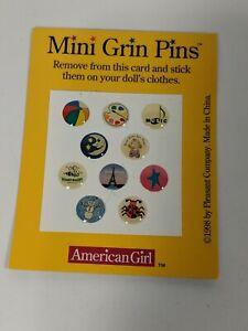 American Girl Today Mini Grin Pins 1998