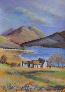"House by the Lake - Original Acrylic Painting by Michael Nashvili 16.5"" x 10"""