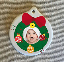 Personalised Ceramic Ornament – Double sided Christmas Gift