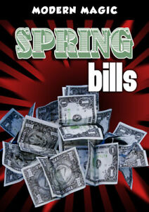Magicians Spring Bill US Dollar Fake Money Production Gimmick Stage Magic Trick