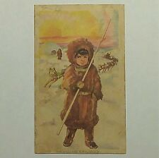 Antique Victorian Trade Card Western & Southern Life Insurance Co. Eskimo No Rsv